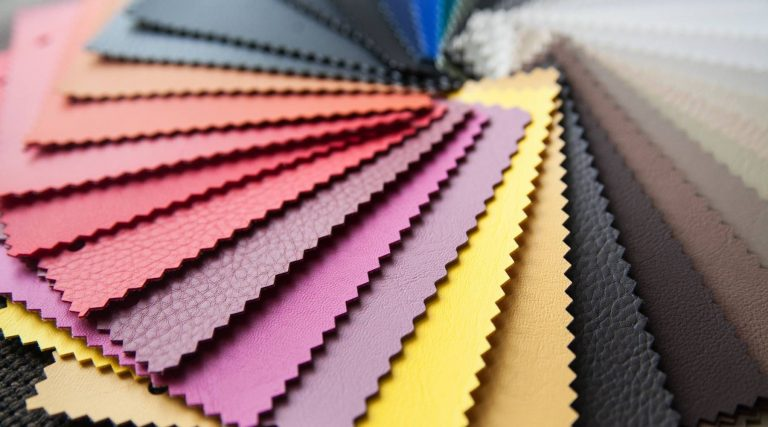 textile leather samples